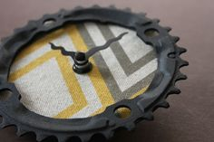 clock made from a bicycle chain ring