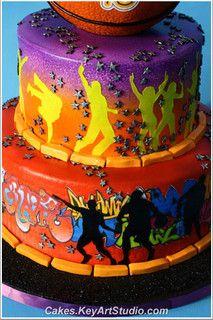 Street Fun Cake - Rap, Hip Hop, Basketball, graffiti by Cakes.KeyArtStudio.com, via Flickr
