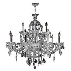 Worldwide Lighting Provence Collection 15-Light Chrome Crystal Chandelier-W83101C35-CL - The Home Depot