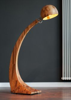 "Wooden Floor Lamp ""Woobia"" by ABADOC"