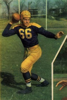Green Bay Packers - Rare color photo of Green Bay passer Cecil Isbell. #packers #nfl #vintage #throwback