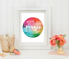 Wall Art Print - Printable Art - Printable Quote - Rainbow Dream Quote - Quote Printable - Digital Art - Inspirational Quote - Life Quote