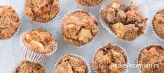 Deze glutenvrije muffins gemaakt met havermout en amandelmeel zijn een heerlijke healthy snack