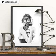 Black And White Prints, Black White, Gas Mask Girl, Goth Subculture, Do It Yourself Furniture, Poster Prints, Art Prints, Cool Posters, Vector Art