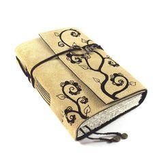 Handmade Journal Leather Swirlplant by Kreativlink on Etsy, $49.00