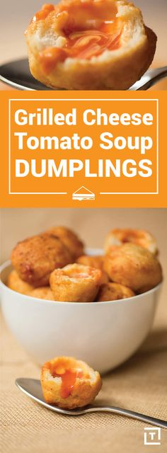 Grilled Cheese-Tomato Soup Dumplings