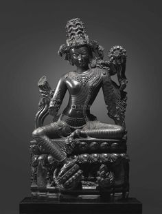 A large and important black stone fgure of Lokanatha Avalokiteshvara, Northeastern India, Pala Period, 12th century; 58 in. (147.4 cm) high. Sold at Christie's New York, 15 March 2017, lot 233, for $24,663,500. © Christie's Images Ltd 2017