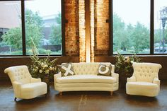 cream lounge furniture with x and o pillows. Bridalbliss.com   Portland Wedding Planner   Oregon Event Design   Bryan Rupp Photography