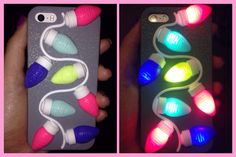 Love my new Victoria's Secret PINK light up phone case. Christmassy!!