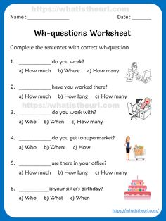 Wh-questions Worksheets For Kids - Your Home Teacher English Grammar Worksheets, English Grammar For Kids, Class 1 English, Grade 2 English, Tenses English, Primary English, Kids English, Learn English, Worksheets For Kids