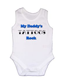 Rockabilly Baby Clothes for Boys | MY DADDYS TATTOOS ROCK BABY BOYS VEST ONESIE dad/gift | eBay