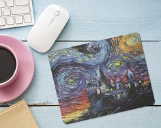 Harry Potter Hogwarts Mouse Pad Starry Night Castle Mouse