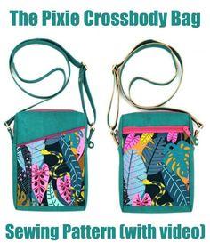 Handbag Patterns, Bag Patterns To Sew, Sewing Patterns, Wallet Sewing Pattern, Bag Pattern Free, Cork Fabric, Fabric Bags, Handmade Bags, Crossbody Bag