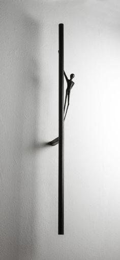 Alex Pinna, Last night a DJ saved my life, 2016, Bronze, 130 x 15 x 12 cm #contemporary #art #sculpture