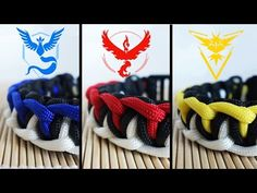 How to Make Pokemon Go! Team Paracord Bracelets Tutorial (Mystic, Instinct, Valor) - YouTube