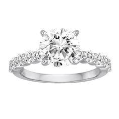 #whitegold #engagementring #diamond