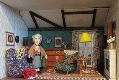 Miss Marple is at home - salon as it looks Miss Marple, Home Salon, Agatha Christie, Dollhouse Miniatures, Salons, Houses, Dolls, Home Decor, Homes