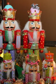 Paige Hanley's hand painted nutcrackers