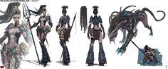 Concept Art NIDALEE headHunter - League of Legend