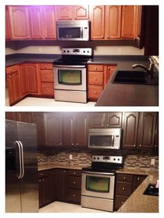 Opaque Cabinet Color Change | NHance Revolutionary Wood Renewal & 34 best Kitchen Cabinets images on Pinterest | Dressers Kitchen ...