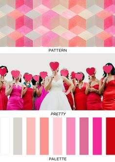 white gray pink red