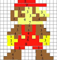 Mario Quilt pattern! For inside of blue Jean quilt
