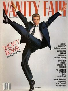 VF's cover story with David Bowie, 1986. Photo by Annie Leibovitz.