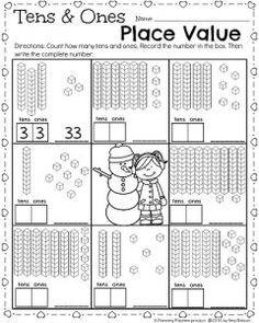 Free place value worksheets for young children. Learn place values ...