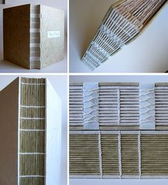 albums by Zoopress studio Handmade Journals, Handmade Books, Bookbinding Tutorial, Bookbinding Ideas, Accordion Book, Diy Cushion, Diy Notebook, Paper Book, Book Binding