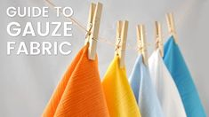Gauze Product Guide | What is Gauze Fabric? Diy Party, Party Favors, Gauze Fabric, Baby Shower Decorations, Bright Colors, Fabrics, Projects, Tejidos, Log Projects