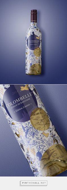 Colombelle #wine #packaging by Lasuite Atelier- http://www.packagingoftheworld.com/2014/12/colombelle.html