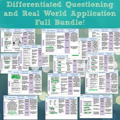 Differentiated Questioning and Real World Application Full Bundle!  Middle School English