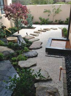 Japanese Garden Backyard, Modern Japanese Garden, Japanese Garden Landscape, Asian Landscape, Asian Garden, Japenese Garden, Zen Rock Garden, Zen Garden Design, Zen Design
