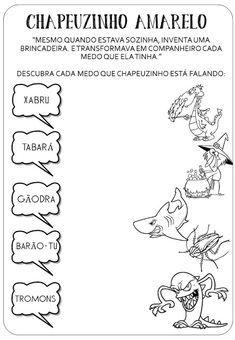 Criar Recriar Ensinar: CHAPEUZINHO AMARELO Childrens Books, Storytelling, Math Equations, Words, Sight Word Activities, Story Books, Activity Books, Co Workers, Autism