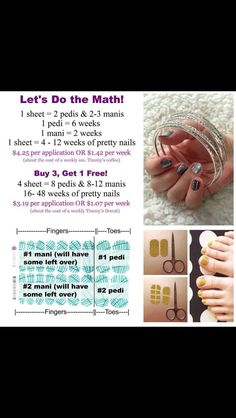 The cost of Jamberry vs salon manicure.