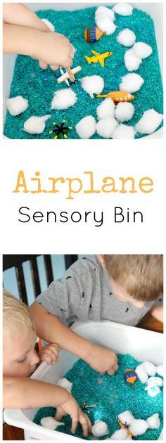 Airplane Sensory Bin