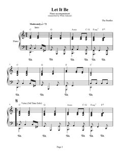 Piano Sheet Music for Beginners | ... – Piano Accompaniment + Easy Beginner Version | Piano Plateau