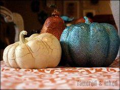 15 pumpkin projects- love the glitter pumpkins!