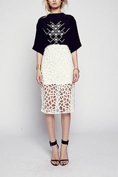 Maurie and Eve paper cut skirt
