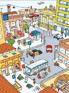 Praatplaat stad / Transportes