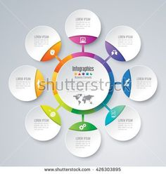 Infographic design vector and marketing icons can be used for workflow layout, diagram, annual report, web design. Business concept with 8 options, steps or processes.