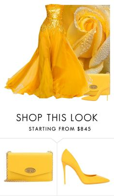 """""""Yellow Rose Of Texas"""" by itsablingthing ❤ liked on Polyvore featuring Mulberry, Elie Saab and Dolce&Gabbana"""