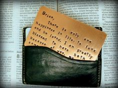 Engrave a wallet insert. | 18 Great Pre-Deployment Gifts For Military Families