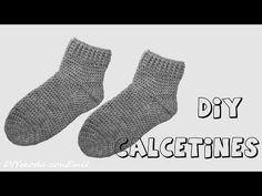 Calcetines o medias tejidas en crochet o ganchillo paso a paso - YouTube