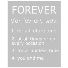 Forever  8 x 10 Print with Definitions of Forever  in by Tessyla, $20.00