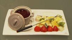 chocoladefondue met vers fruit