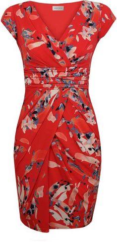 Water Colour Print Jersey Dress - Lyst