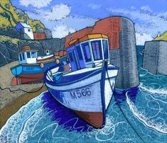Chris Neale - Landscape Artist - Form, technical ability, light, and… Impressionist Landscape, Landscape Art, Landscape Paintings, Landscape Design, Boat Painting, Stone Painting, Pretty Drawings, Paintings I Love, Pastel Paintings