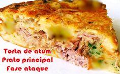 Receita de torta de atum fit que poderá ser consumida na fase ataque da dieta dukan e também em outras dietas para emagrecer. Receita de baixa calorias.