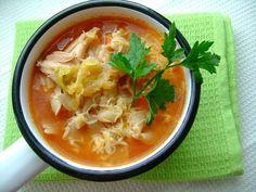 Włoska zupa jarzynowa z fasolą i makaronem